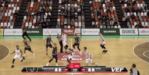 'OlyBet' basketbola līga: 'Valmiera glass/ViA' - 'VEF Rīga'. Spēles labākie momenti (12.12.2018.)