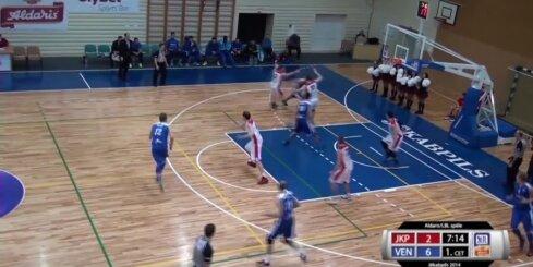 'Aldaris Latvijas Basketbola Līga' - 'BK Jēkabpils' - 'BK Ventspils' spēles labākie momenti