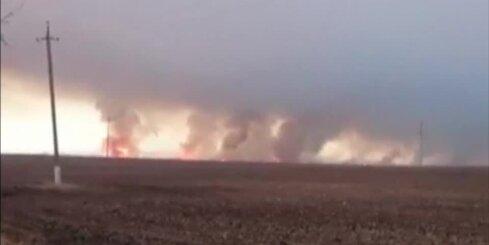 Ukrainā eksplodē milzīga munīcijas noliktava