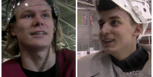 Jānis Kalniņš un Rodrigo Ābols stāsta par treniņiem un gaidāmo pasaules hokeja čempionātu