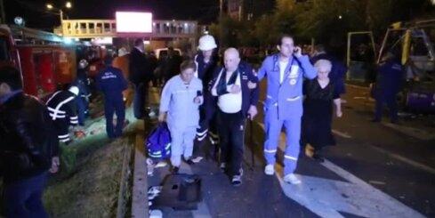 Armēnijā sprāgst autobuss; divi cilvēki miruši un septiņi ievainoti