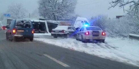 Kravas auto avārija pie Salaspils