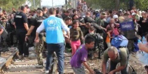 Haoss uz Grieķijas-Maķedonijas robežas