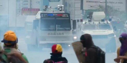 Vardarbīgi protesti Venecuēlā