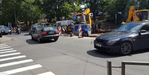 Ūdensvada remontdarbi Valdemāra ielā