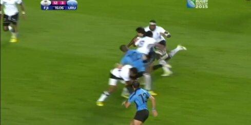 Fidži regbisti pārspēj Urugvaju