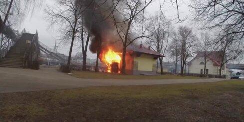 Zemitānu stacijā nodeg tualetes