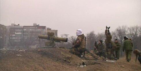 Prokrieviskie Doņeckas teroristi pamieru izmanto treniņiem