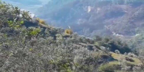 Krievijas helikopteri meklē notriektā iznīcinātāja pilotus