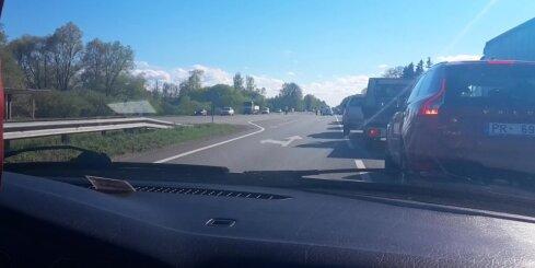 Avārija uz Jelgavas šosejas