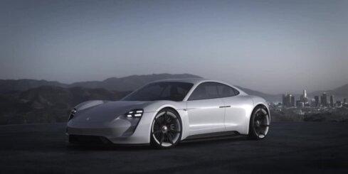 'Porsche' konkurents 'Tesla' elektromobilim