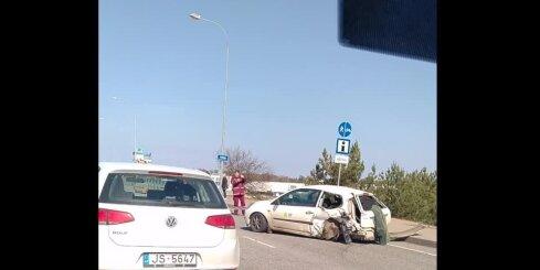 Četru auto avārija uz Lielupes tilta