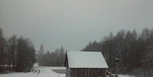 Sniega kupenas Balvu novadā