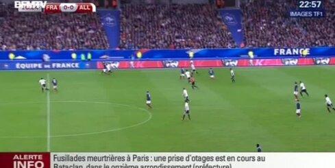 Sprādziens futbola mača laikā Parīzē