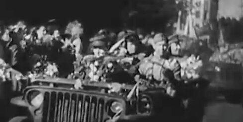 Arhīva video: Rīgā atgriežas Latviešu korpusa karavīri, 1945. gads