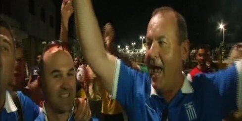Grieķija pēdējās sekundēs izrauj uzvaru un iekļūst Pasaules kausa 1/8 finālā