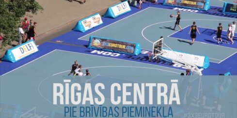 Ceturtais Latvijas čempionāts 3x3 basketbolā pie Brīvības pieminekļa jau pēc divām dienām