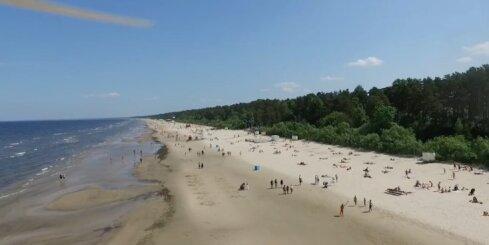 Drona video - Jūrmalas pludmale