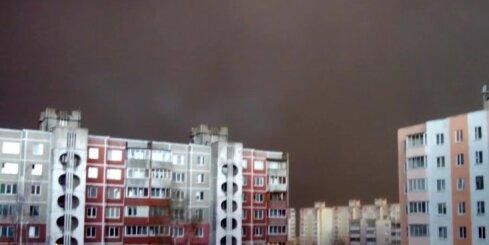 Apokaliptiska vētra baltkrievu Saļihorskai atnes piķa melnu tumsu