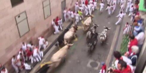 В Испании четыре человека пострадали во время забега быков