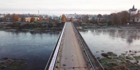 Jēkabpils rudenī no 'putna lidojuma'