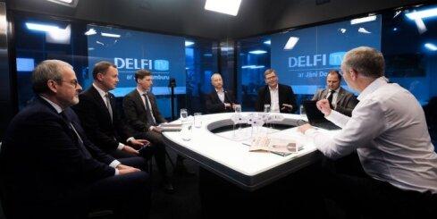 'Delfi TV ar Jāni Domburu' atbild Gobzema valdības sarunu vedēji