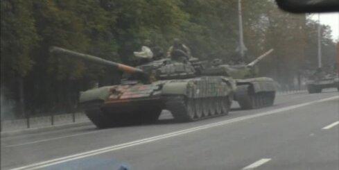 Prokrievisko spēku tanku kolonna pie Doņeckas