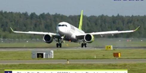 Rīgā nolaižas jaunā 'airBaltic' lidmašīna