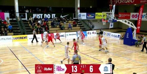 'OlyBet' basketbola līga: 'Ogre' - 'Tal Tech'. Spēles labākie momenti (24.11.2018.)