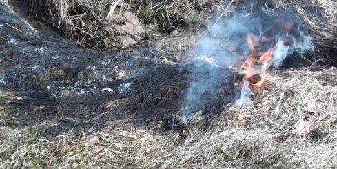 Ventspils novadā kūlas ugunsgrēkā cieš 80 gadus vecs vīrietis