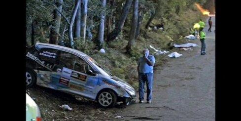 Avārijā rallijā Spānijā seši cilvēki gājuši bojā, 12 ievainoti