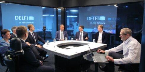 Otrā politiķu diskusija vēlēšanu nakts studijā pie Jāņa Dombura
