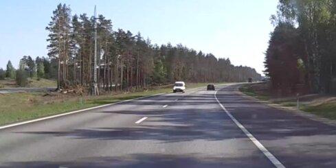 Pārsteigums uz Siguldas šosejas – autovadītājs, kurš sajaucis virzienus