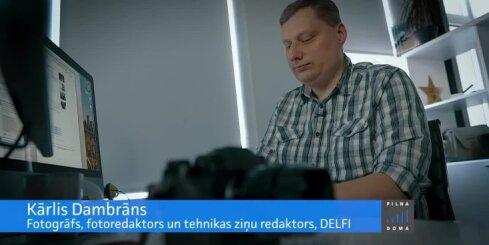 Pilna doma. 'Delfi' fotoredaktors Kārlis Dambrāns