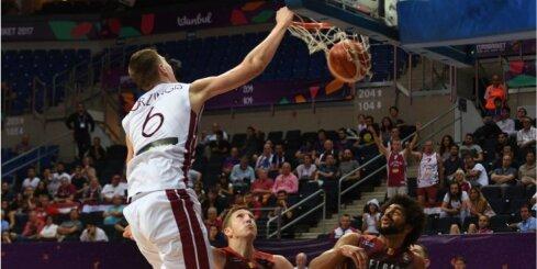 Video: Porziņģa groza tricinājums – 'Eurobasket 2017' otrais skaistākais moments