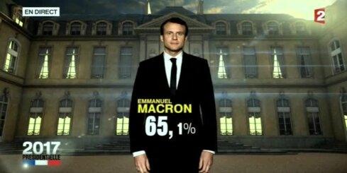 Prognozes: Francijas prezidenta vēlēšanās uzvarējis Makrons