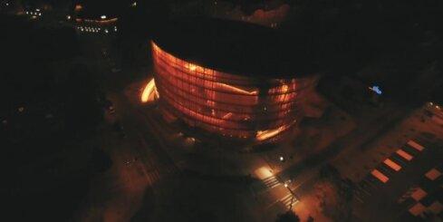 Koncertzāle 'Lielais dzintars' no putna lidojuma