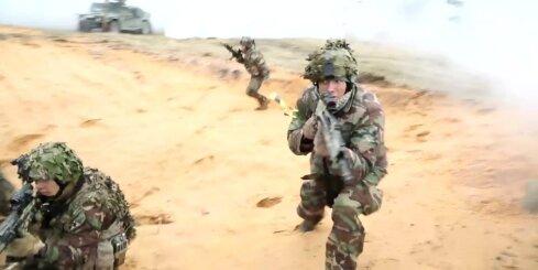 Drona video: Baltijas bataljona mācības Ādažos