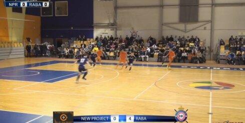 Telpu futbols - 'FC NEW PROJECT' - 'FK RABA' - vārtu guvumi