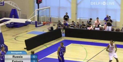Igaunijas basketbolisti pārbaudes spēlē zaudē Krievijai