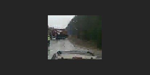 Kravas auto avārija ceļa posmā Daugavpils - Rīga