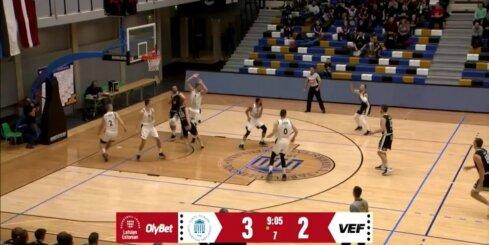 'OlyBet' basketbola līga - 'Tartu Ulikool' - 'VEF Rīga'. Spēles labākie momenti