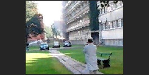 Video no Stradiņu universitātes ugunsgrēka