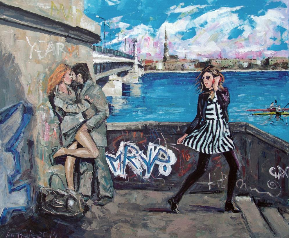 Рига мечты: живые и теплые столичные зарисовки художника Андрея Бовтовича