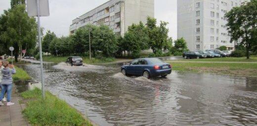 Siļķu ielā atkal plūdi...