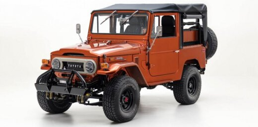 Klasiskais 70. gadu 'Toyota Land Cruiser' ar mūsdienu tehnoloģijām