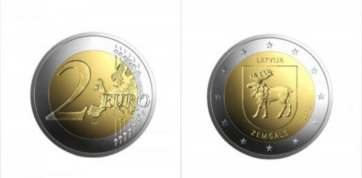 Latvijas Banka laiž apgrozībā Zemgalei veltītu 2 eiro piemiņas monētu