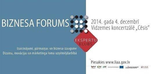 Biznesa forumā diskutēs par veiksmīgas uzņēmējdarbības faktoriem