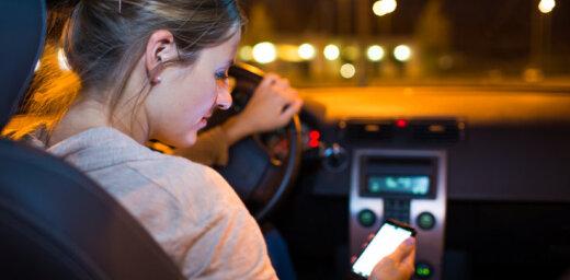 Говорящих по мобильникам водителей полиция будет ловить на нетрафарированных машинах