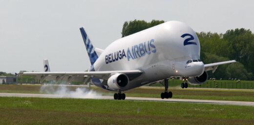 Airbus Beluga — вычурный самолет, который возит другие самолеты (вертолеты, картины)